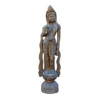 Chinese Stone Kwan Yin, Tara, Bodhisattva Statue
