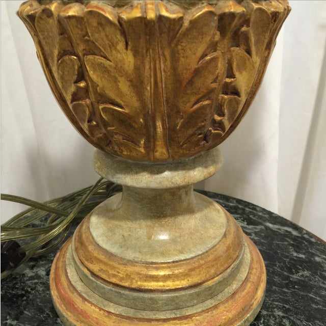 Vintage Italian Painted Urn Form Table Lamp - Image 9 of 9