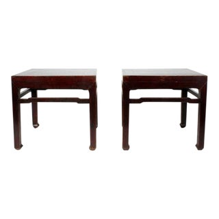 Pair of Early 20th Century Chinese Low Tables