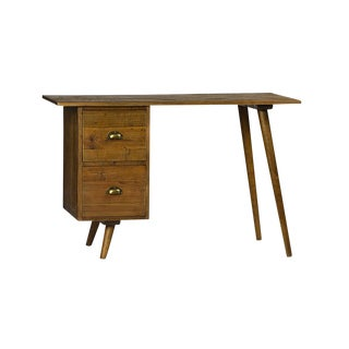 Vintage Mid-Century Reclaimed Wood Desk
