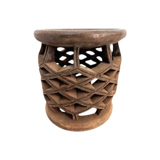 African Diamond Bamelike Stool