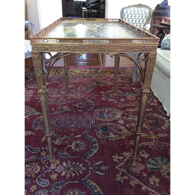 Antique 19th C. Chinoiserie Bronze Console Table - Image 3 of 5