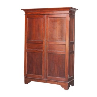 dutch colonial jackfruit armoire with panel doors antique mahogany armoire