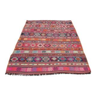 Vintage Turkish Kilim Rug - 5′1″ × 7′2″