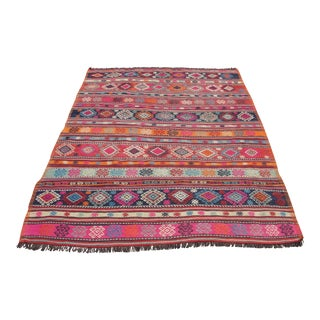 Vintage Turkish Kilim Rug - 5′1″ × 7′2″
