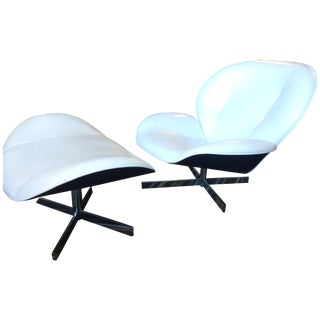Ligne Roset Swivel Chair and Ottoman