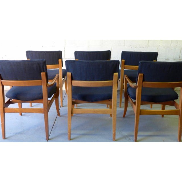 Mid century modern dining chairs set of 6 chairish for Modern dining chairs ireland