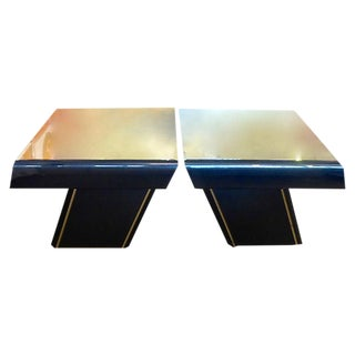 Geometric Design Side Tables - Pair