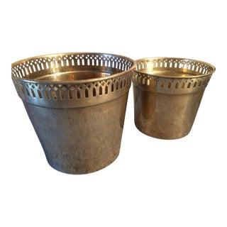 Brass Cache Pots - Set of 2