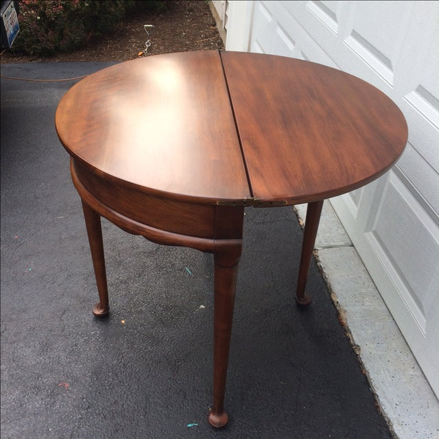 Demilune Mahogony Game Table - Image 4 of 6