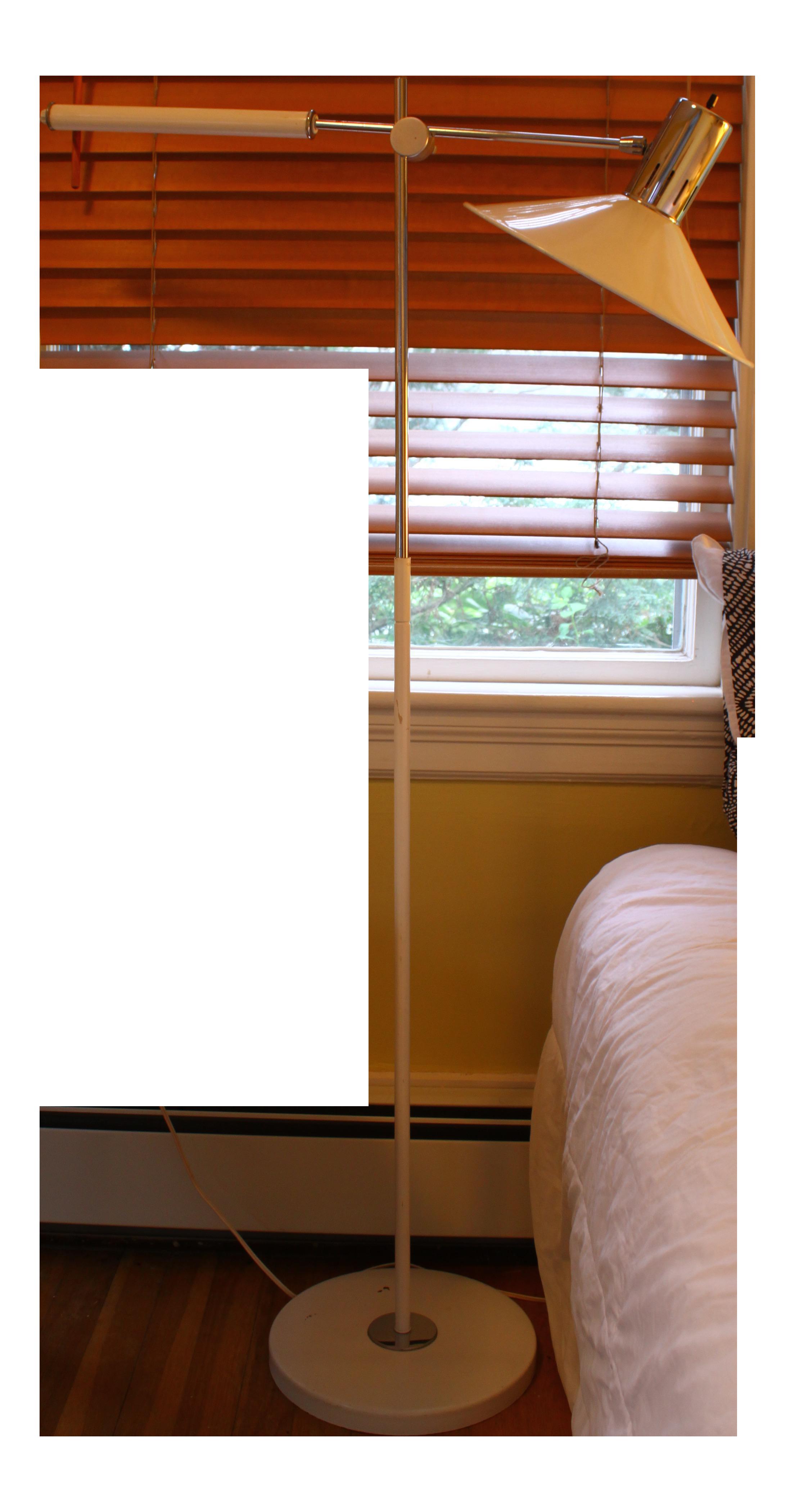 mid century italian swing arm floor lamp