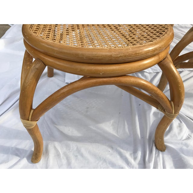 Sheet Cane Bentwood Bistro Chairs - Set of 4 - Image 5 of 10