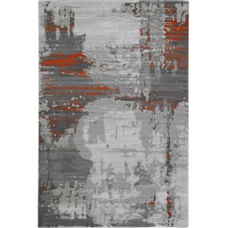 Orange Abstract Rug -- 8'x 10'7''