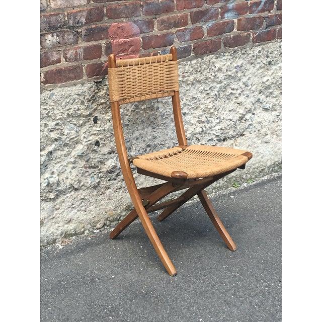 Vintage Hans Wegner Style Folding Chair - Image 2 of 5