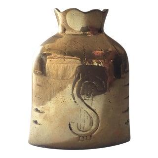 Vintage Brass Money Bag