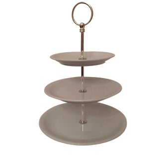 Pillivuyt Porcelain 3 Tiered Cake Stand