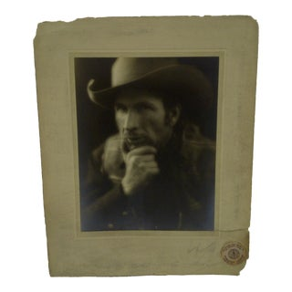 C. 1934 Cowboy by Vincent Evans Black & White Photograph