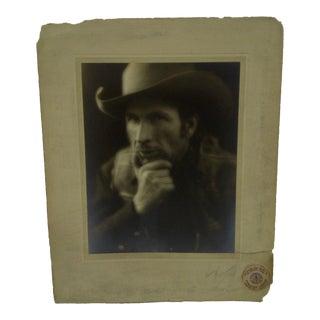 C. 1934 Cowboy by Vincent Evans Black & White Photograph