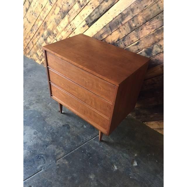 Image of Mid-Century Refinished 3-Drawer Dresser
