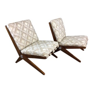 Pierre Jeanneret Scissor Lounge Chairs for Knoll - A Pair