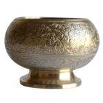 Image of Vintage Etched Brass Bowl