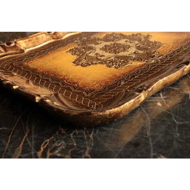 Golden Florentine Wood Tray - Image 6 of 7