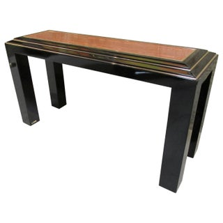 Rougier Regency Style Black Lacquer Console Table
