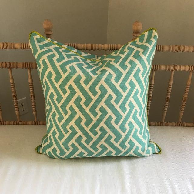 Quadrille China Seas Aga Aqua Pillow - Image 3 of 6