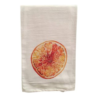 Citrus Orange Motif Tea Towel