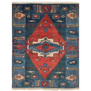 "Turkish Tribal Anatolian Rug - 5'6"" X 7'6"""