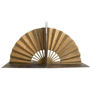 Brass Fan Bookends - Pair
