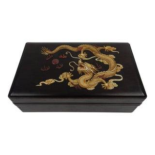 Chinese Zitan Dragon Box
