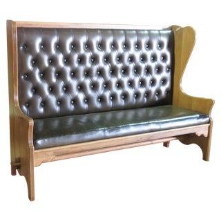 Antique Tufted Naugahyde Bench