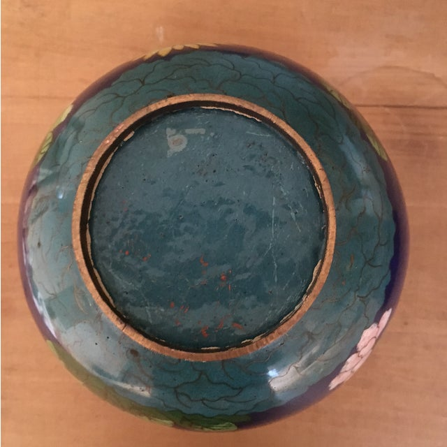 Vintage Cloisonné Bowl With Lid - Image 10 of 11