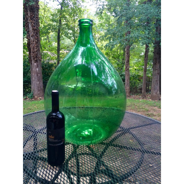 Vintage Italian Green Glass 54 Liter Demijohn - Image 7 of 7