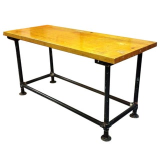 Vintage Steel Leg Manufacturing Table
