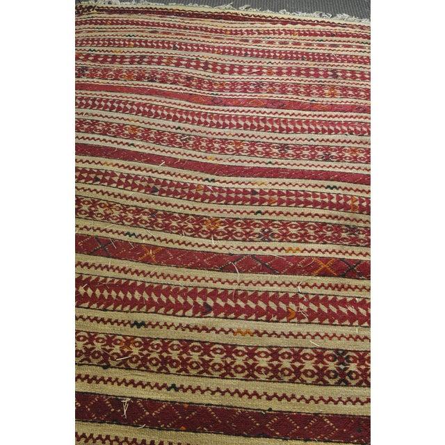 "Vintage Moroccan Wool Straw Rug - 6'6"" X 8'10"""