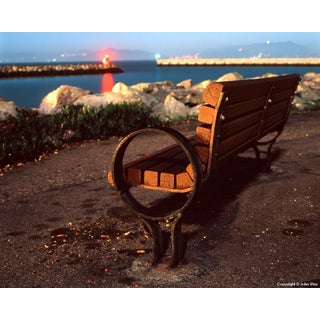 Edge-On Bench - Night Photograph by John Vias