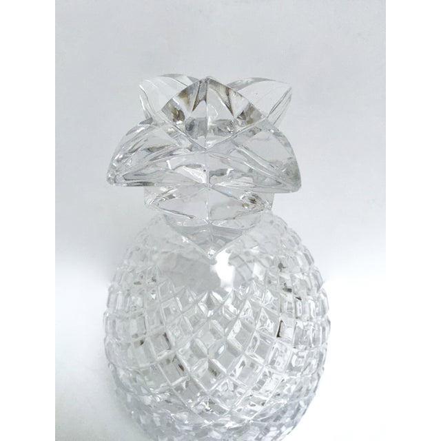 Vintage Large Clear Glass Pineapple With Lid - Image 7 of 9