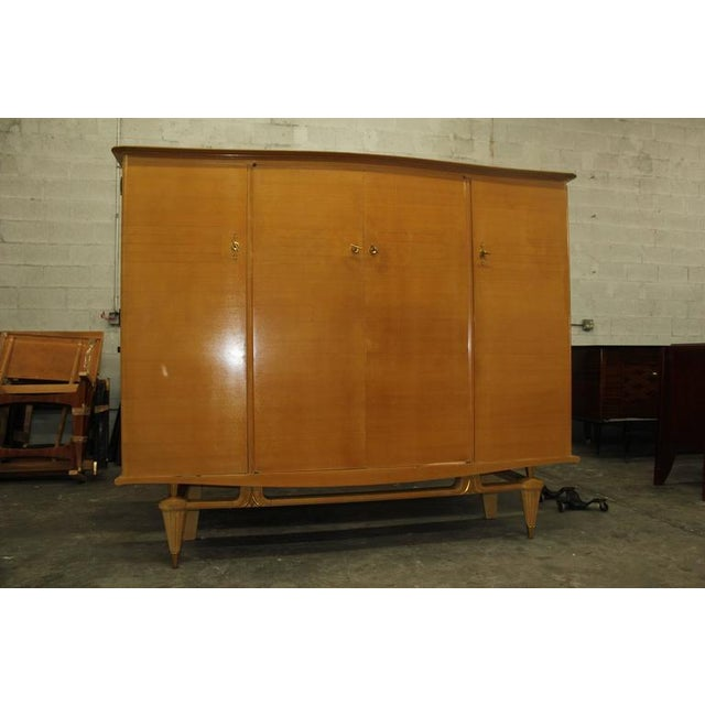 French Art Deco Sycamore Armoire - Image 3 of 7
