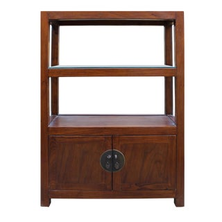 Chinese Wooden Bookcase & Cabinet