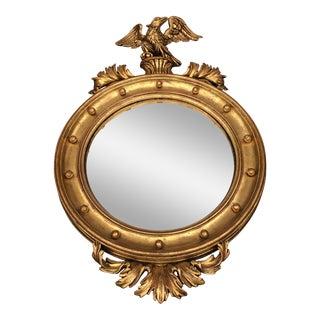 Chelini Italian Federal Style Convex Round Mirror