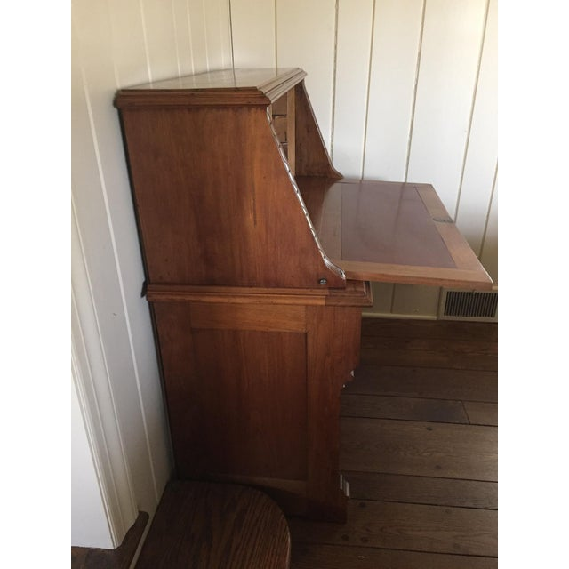 Antique Fall Front Secretary Desk - Image 4 of 6