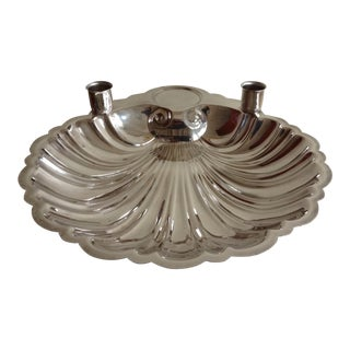 English Silver Plate Shell-Shaped Party Platter