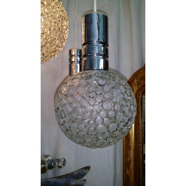 Mid-Century Abstract Murano Globe Pendant Light - Image 7 of 8