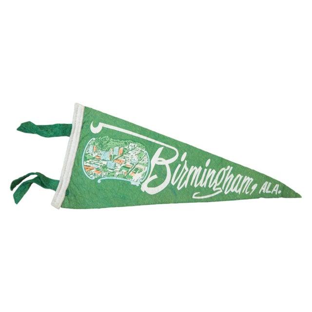 Vintage Birmingham, Alabama Felt Flag Banner - Image 1 of 2
