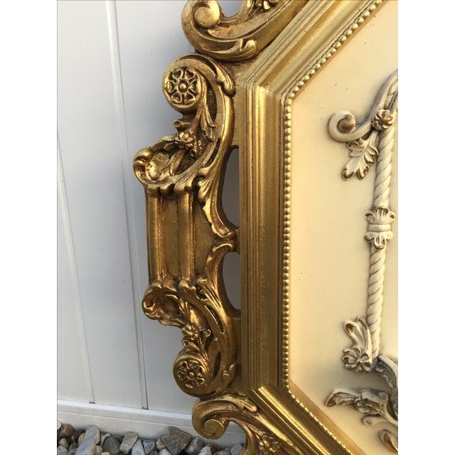 Hollywood Regency Very Large Gold Gilt Framed Clock With Shelves - Image 7 of 7