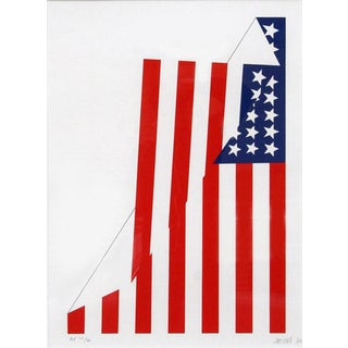 "1980 ""Folded American Flag"" Print by Jim Jacobs"