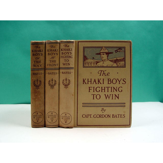 The Khaki Boys WWI Adventure 1910 Book- Set of 3 - Image 2 of 3
