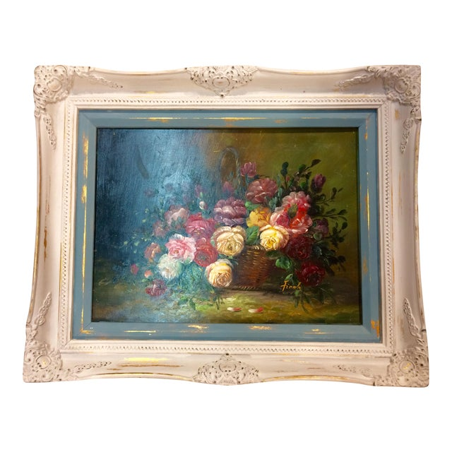 Floral Oil Painting - Image 1 of 5